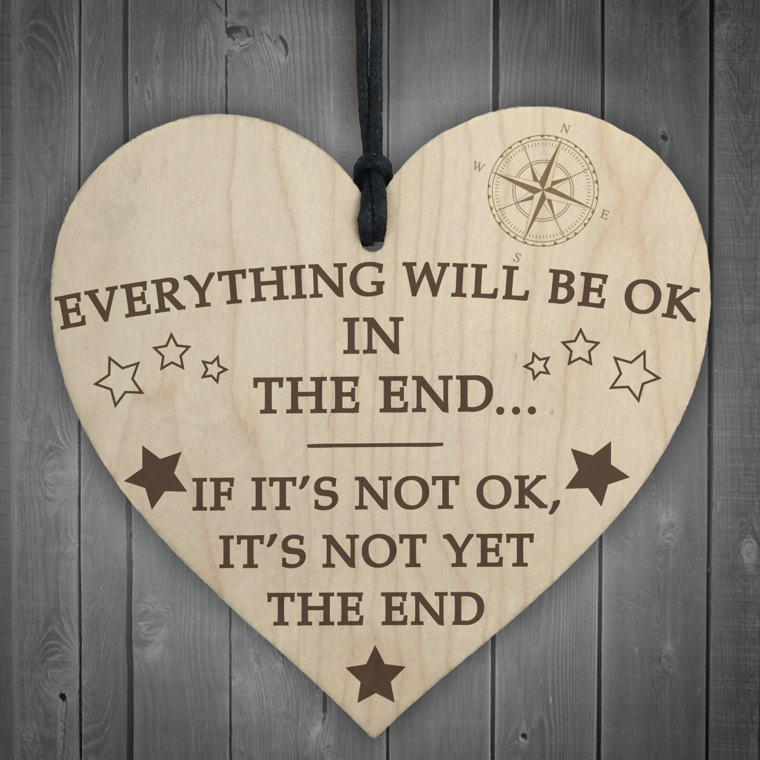 Wood Okay Will Hanging Sign The Gift Heart In Everything Be End qSULGVzMp
