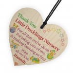 Personalised Thank You Nursery Teacher Gift Hanging Plaque