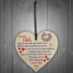 Christmas Memorial Dad Tree Bauble Gift Memory Hanging Plaque