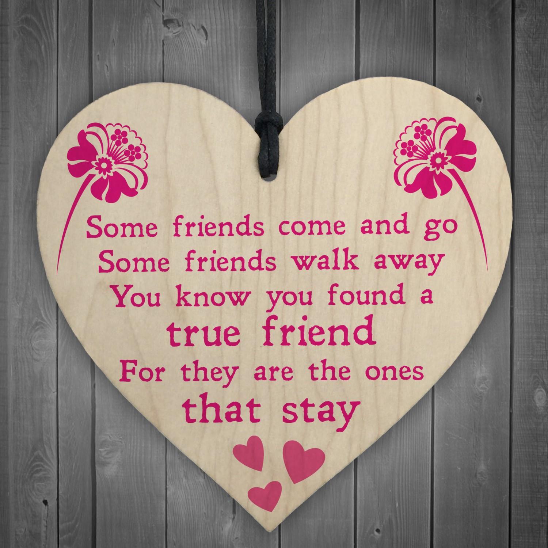 True Friend Poem Friendship Best Friends Gift Hanging Plaque