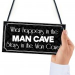 Vintage Man Cave Wall Plaque Sign Gifts Accesories Funny Quote