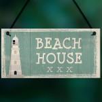 Beach House Shabby Chic Sign Vintage Nautical Seaside Plaque Art