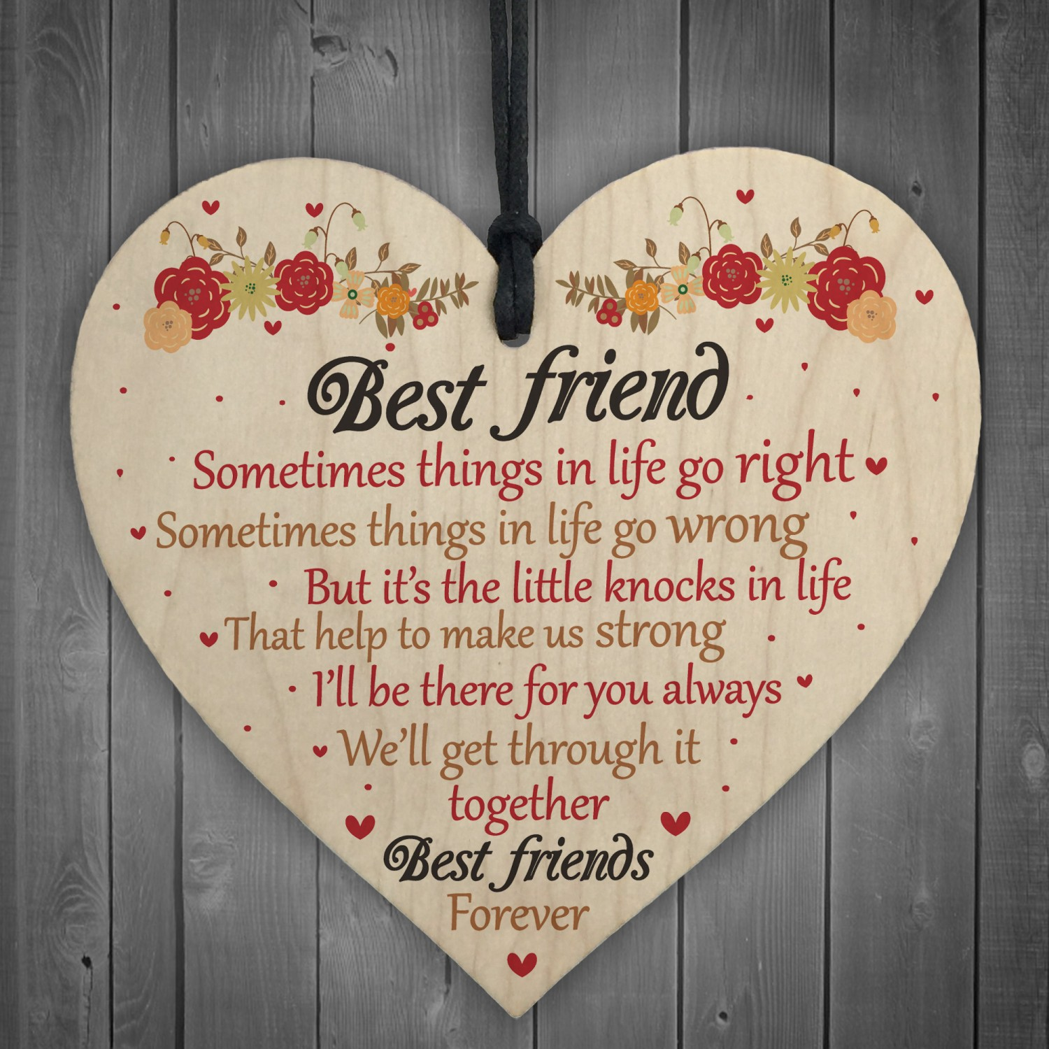 Best Friends Forever Friendship Hanging Heart Special Love