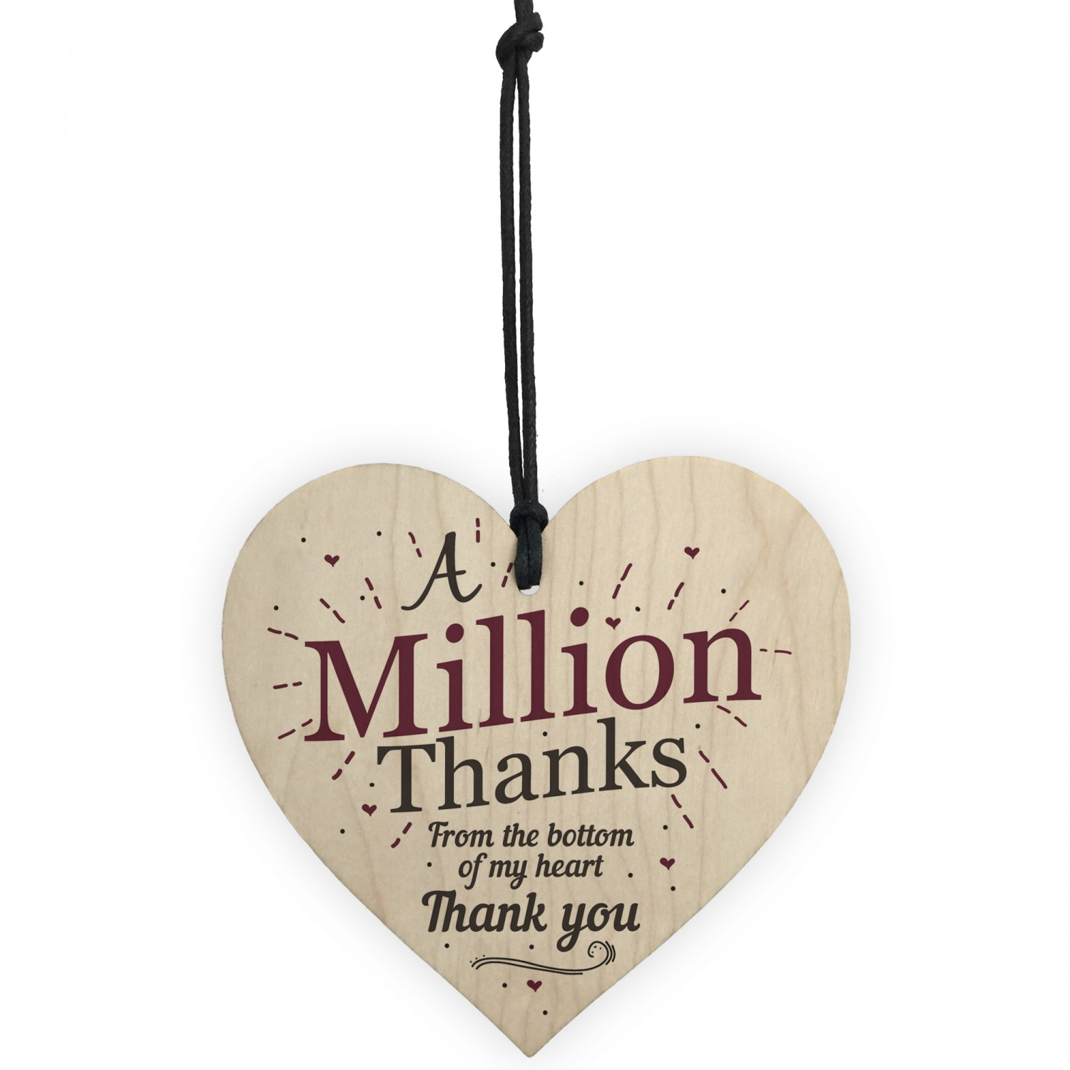 A Million Thanks Friendship Sign Best Friend Gift Wooden Heart