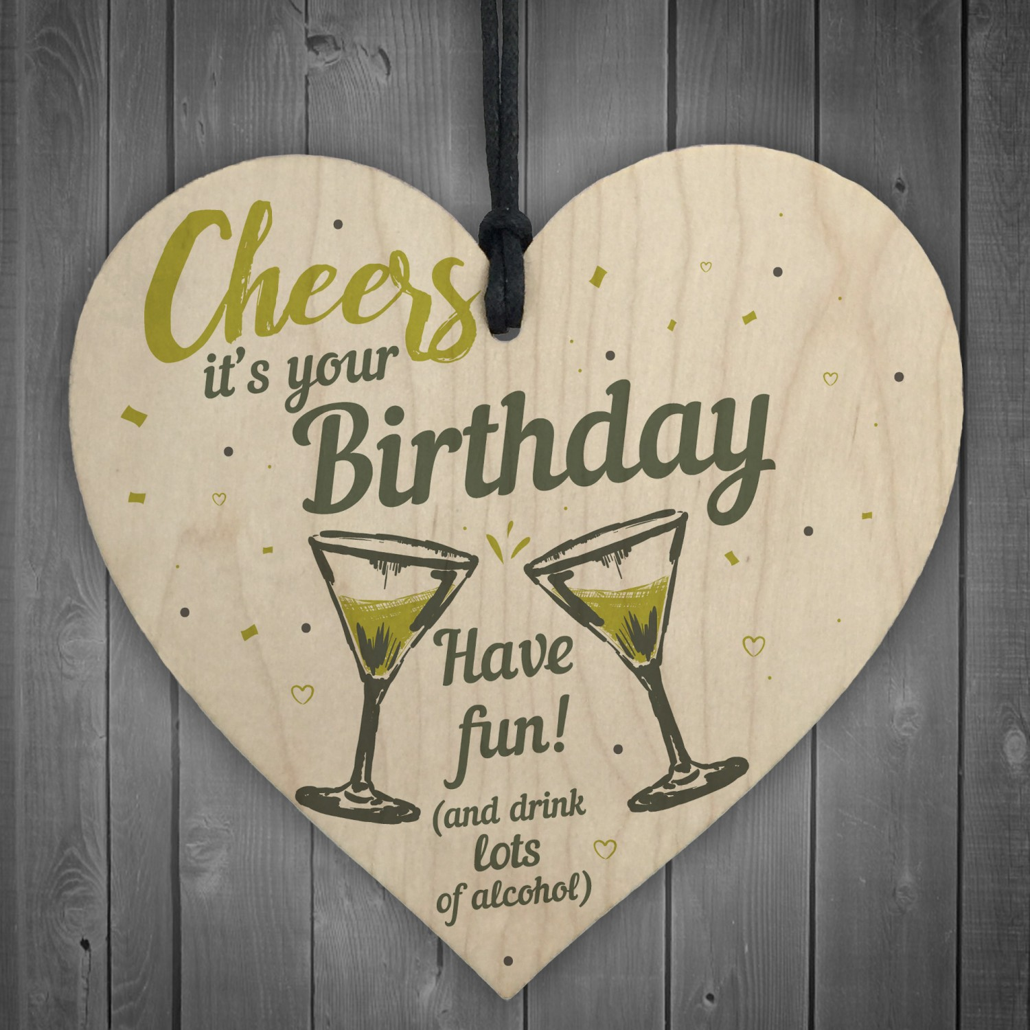 Cheers Birthday Friendship Friend Gift Alcohol Novelty Sign