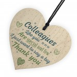Special And Few Colleagues Heart Plaque Sign Friendship Gift