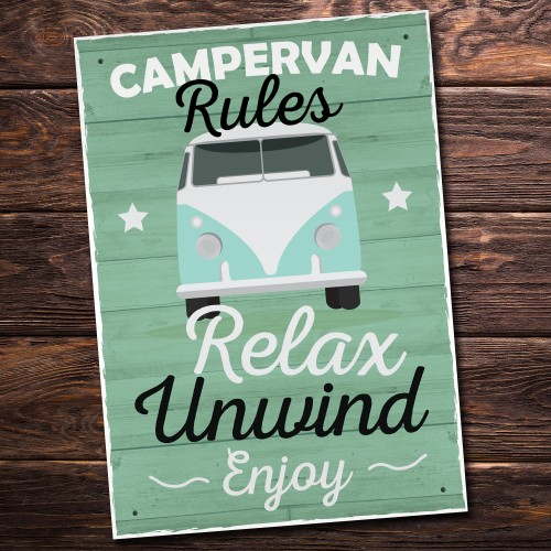 Camper Van Accesories Travel Holiday Novelty Plaques Birthday