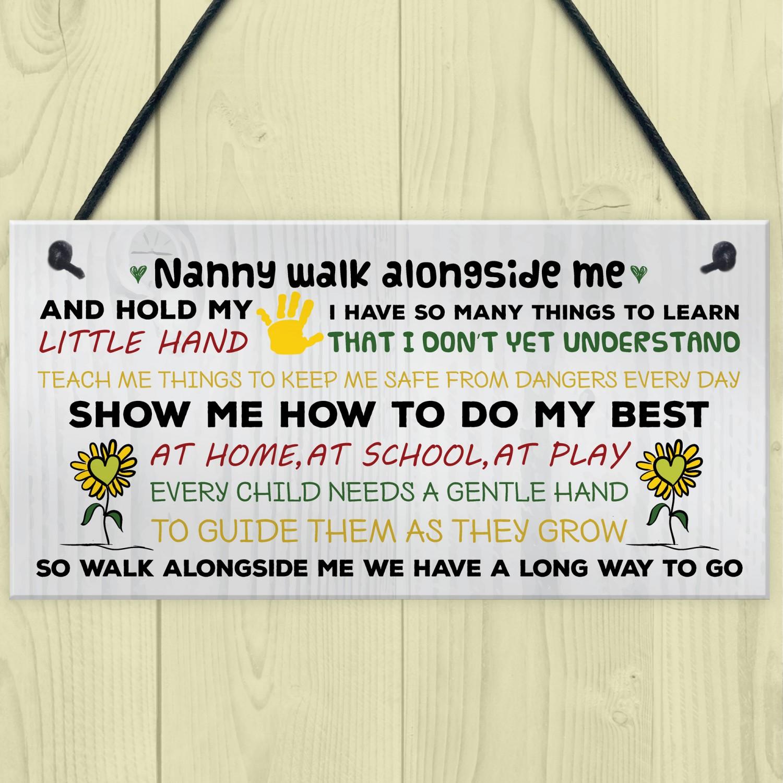 Personalised Gifts Walk Alongside Me Nan Nanny Nana on Mother/'s Day Birthday