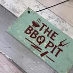 BBQ Pit Novelty Hanging Garden Sign Barbeque Shed SummerHouse