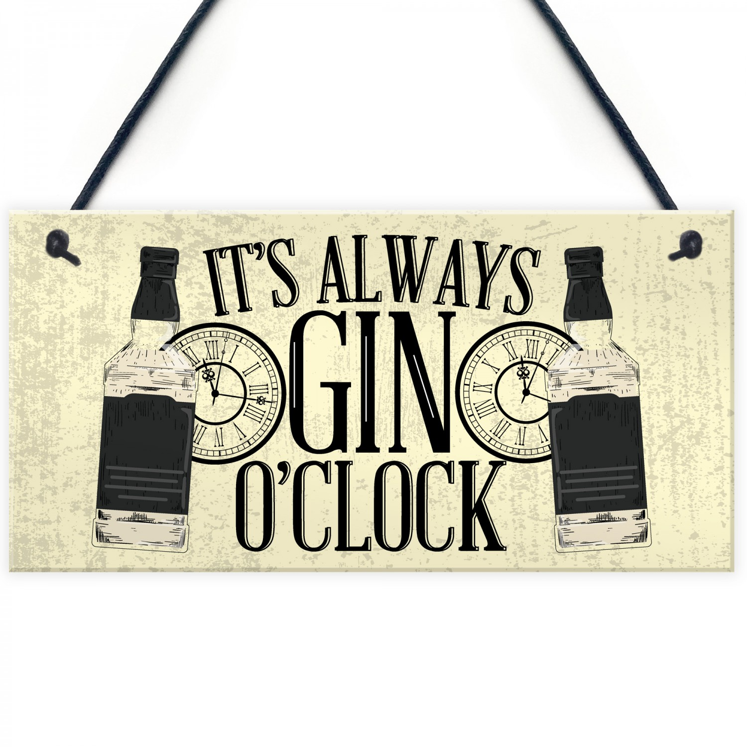 Gin OClock Friend House Warming Birthday Gift Plaque Alcohol