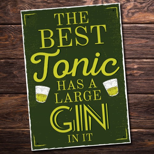 Best Gin Plaques Tonic Garden Party Bar Pub Wall Signs Friends