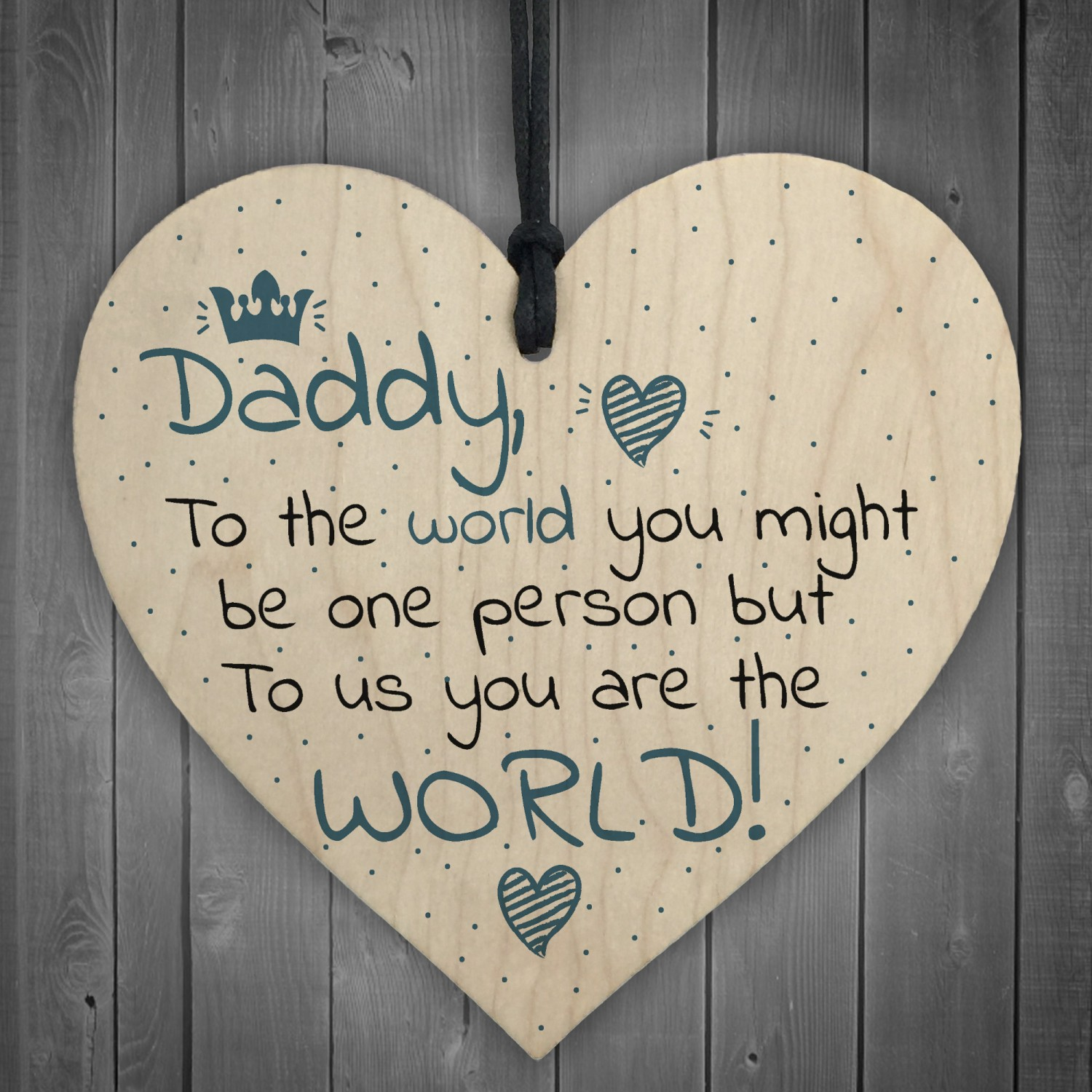 Fathers Day Birthday Gift Daddy Dad Stepdad Father Wood Sign