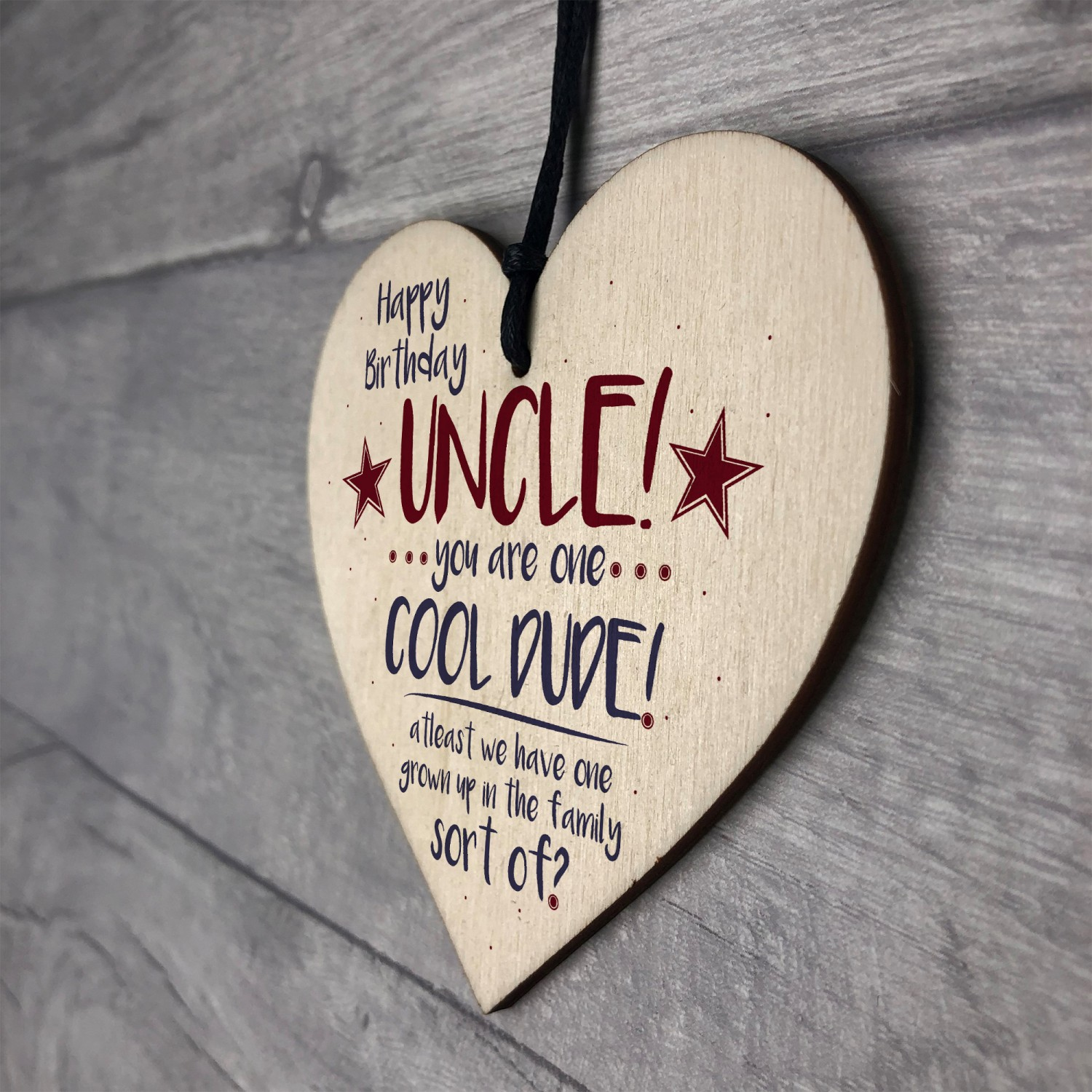 Cool Funny Happy Birthday Heart Uncle Gifts For Him Man Family
