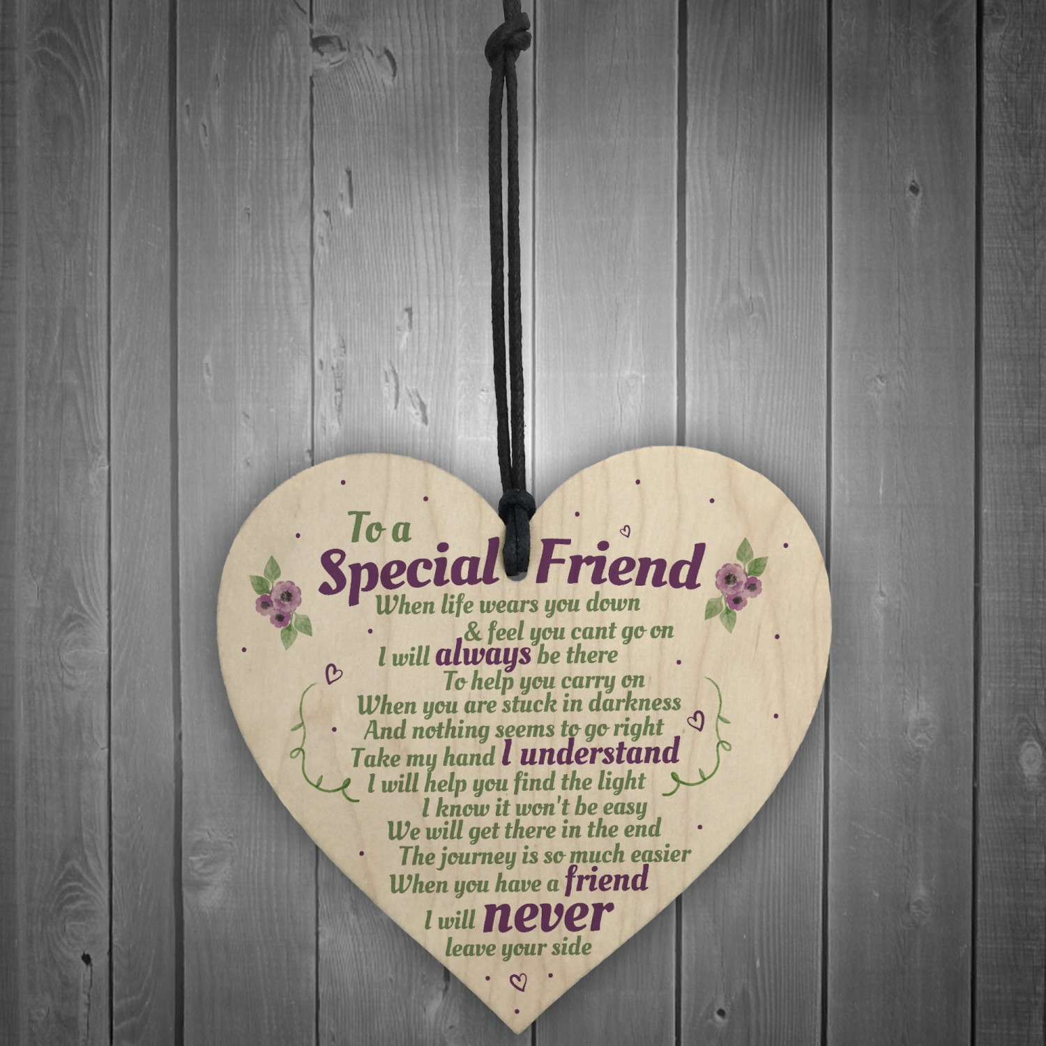 Shabby personalised Gift Chic Heart Plaque Special BEST FRIEND ANY NAMES Gift