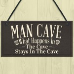 Vintage Man Cave Plaque Sign Fathers Day Gift For Him Bedroom