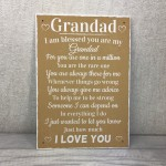 Blessed Grandad Grandpa Father's Day Plaque Thank You Birthday