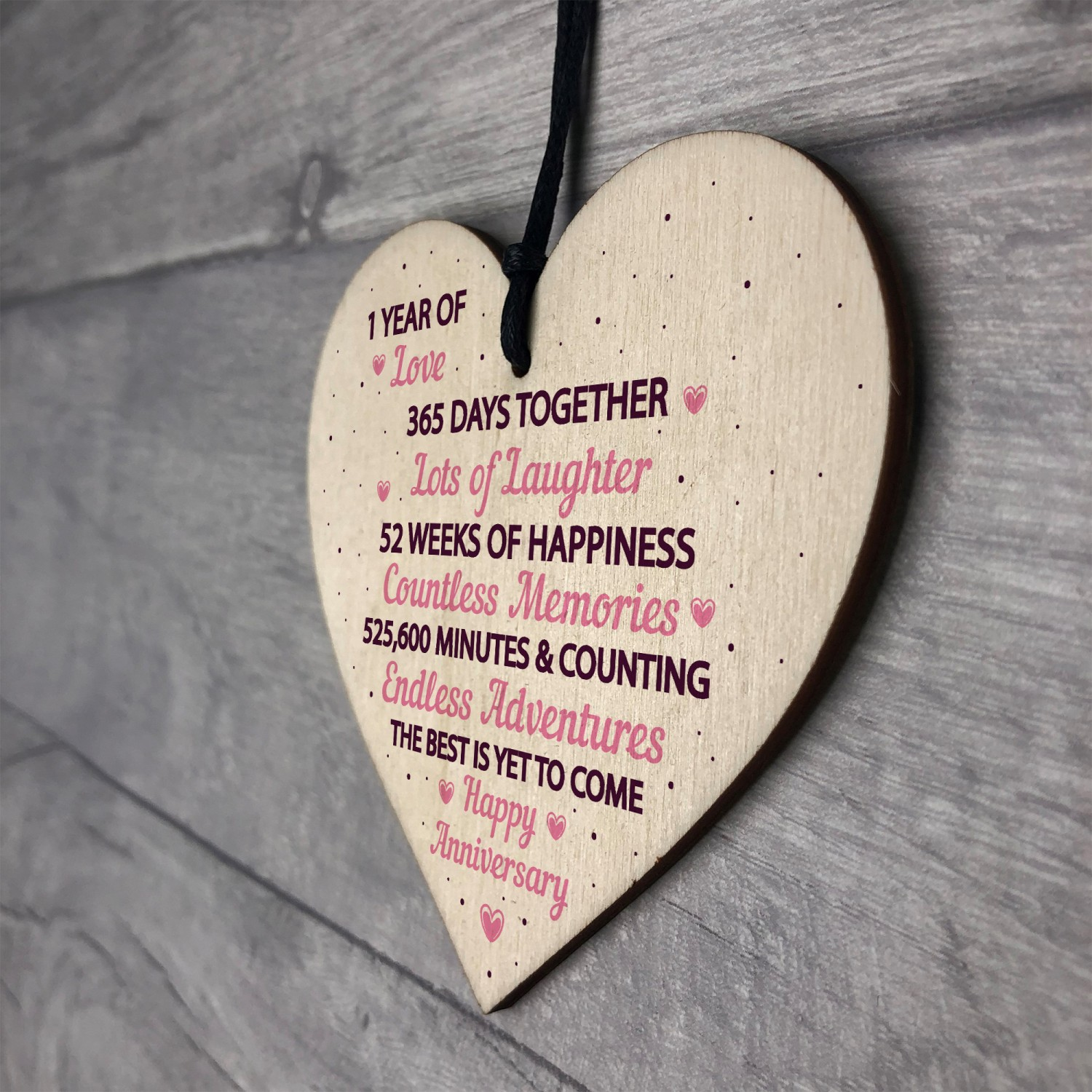 Gift For First Wedding Anniversary To Wife: 1st Wedding Anniversary Gift Wood Heart First Wedding Gift