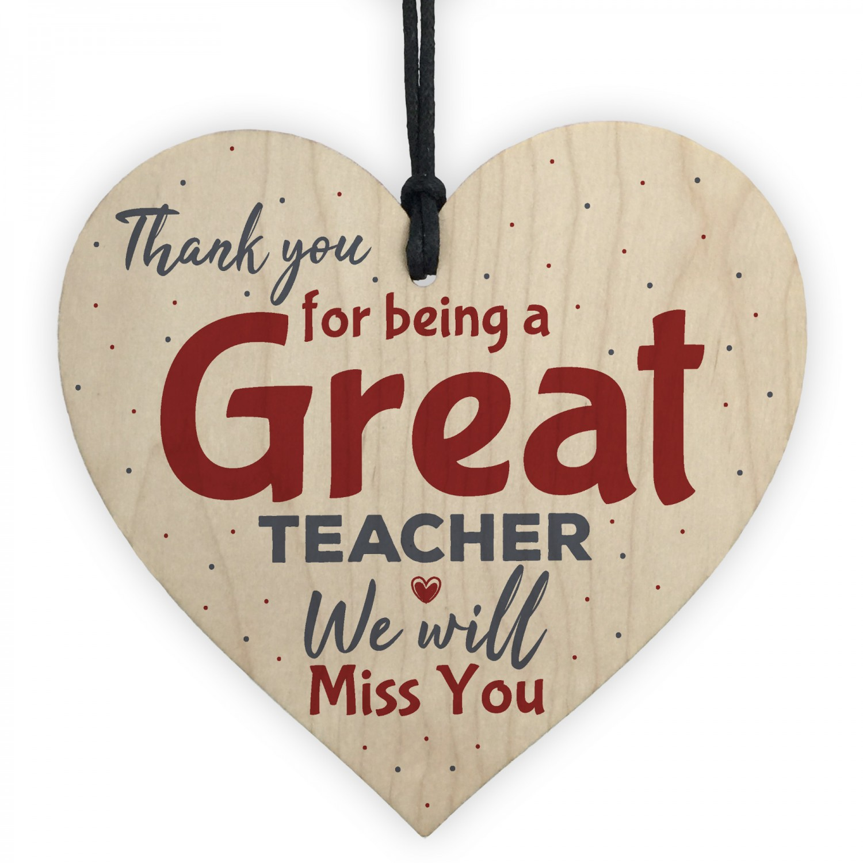 Thank You Teacher Gift Heart Leaving Nursery School Miss You