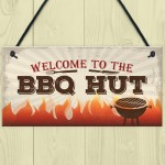 BBQ Hut Hanging Garden Sign Summer House Bar Man Cave Shed