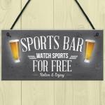 Sports Bar Man Cave Bar Pub Football Hanging Sign Plaque Gift