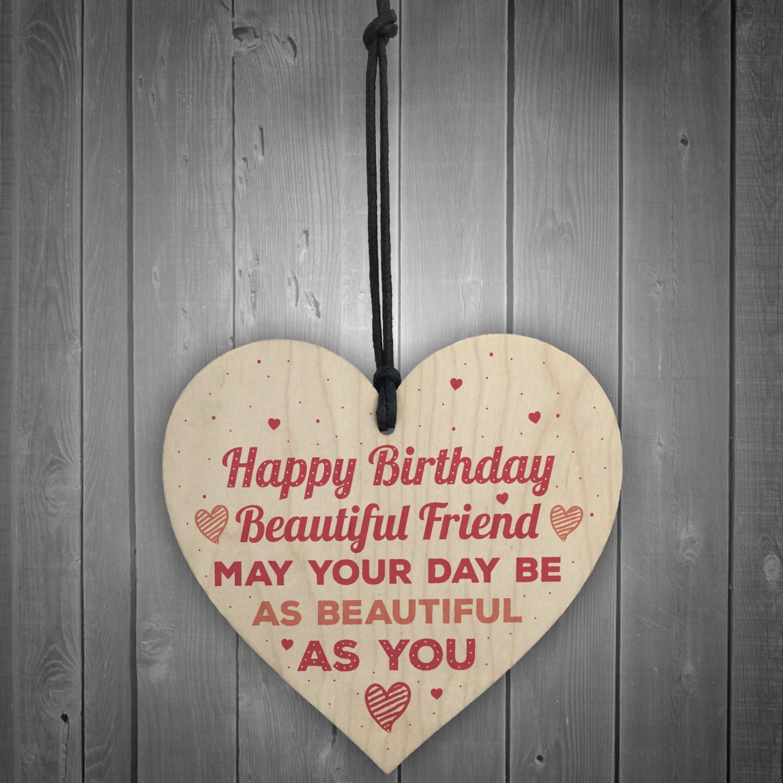 Handmade Happy Birthday Friendship Sign Best Friend Plaque