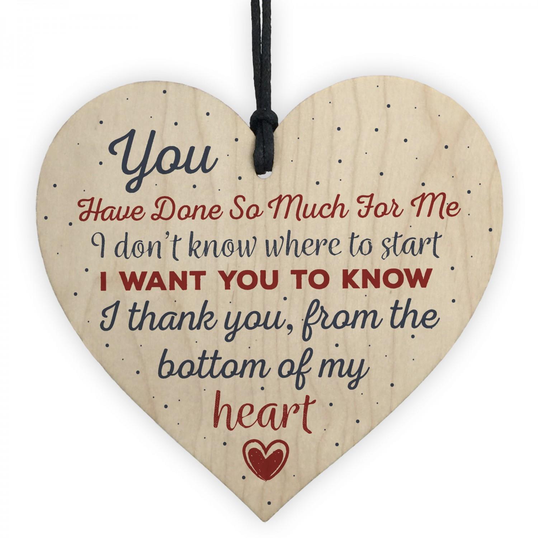 Handmade Wooden Heart Gift For Teacher Mentor Friend Gifts