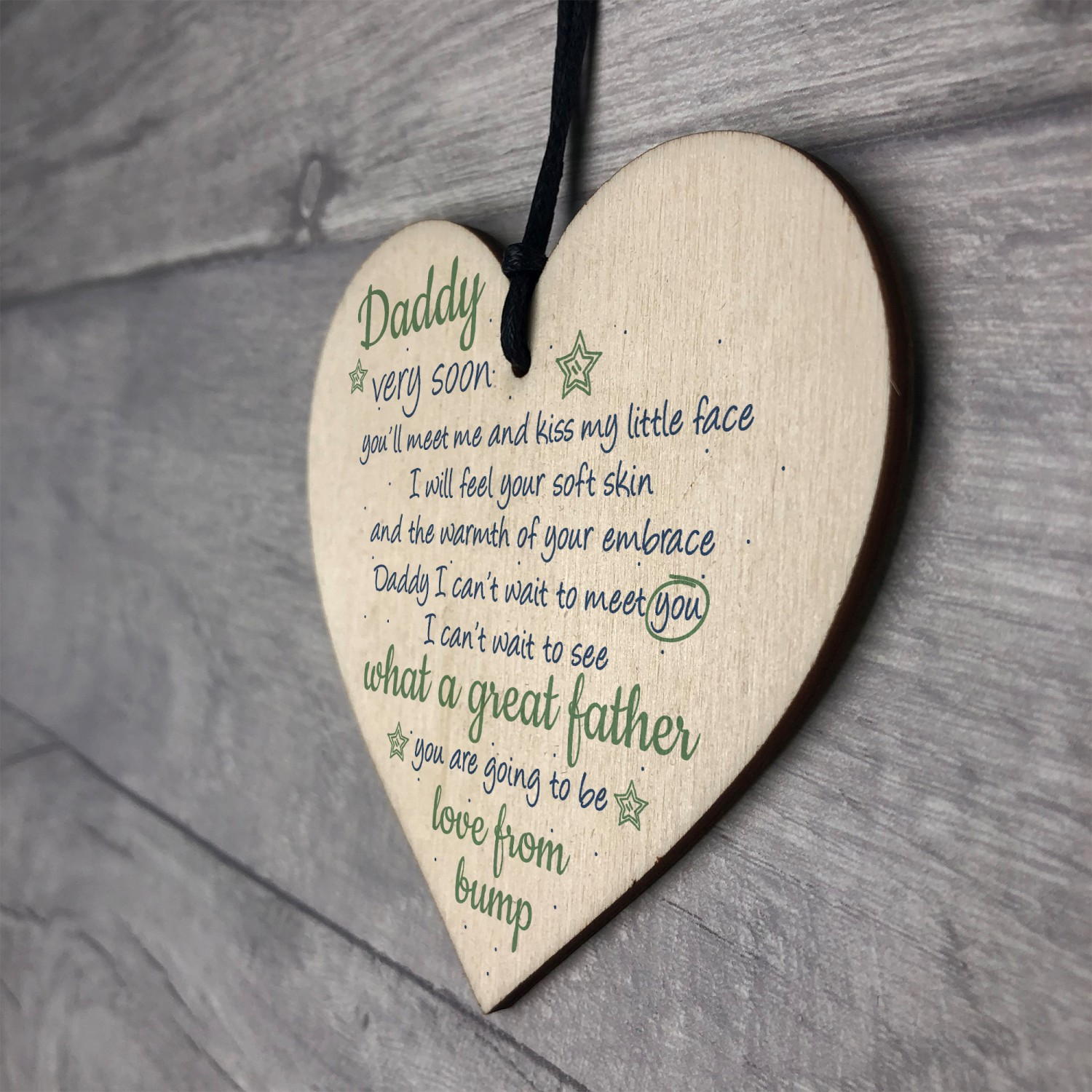 & Handmade Heart From Bump Gifts Dad Daddy To Be Father Baby Son