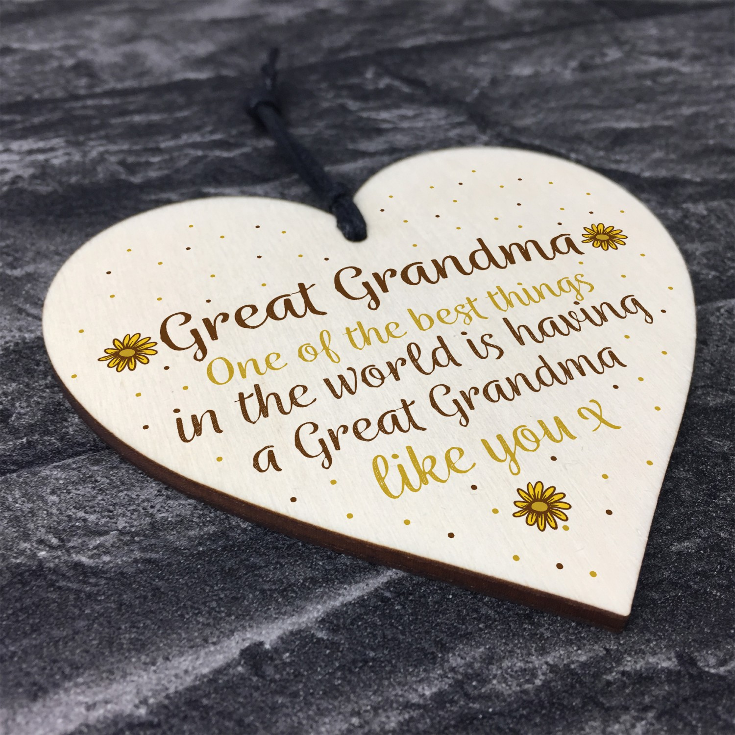 Great Grandma Gift Wooden Heart Granparent Birthday For Her