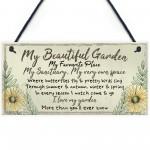 Beautiful Garden Plaque SummerHouse Sign Garden Shed Mum Gift