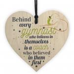 Gymnast Dance Teacher Coach Wooden Heart Sign Thank You Gift