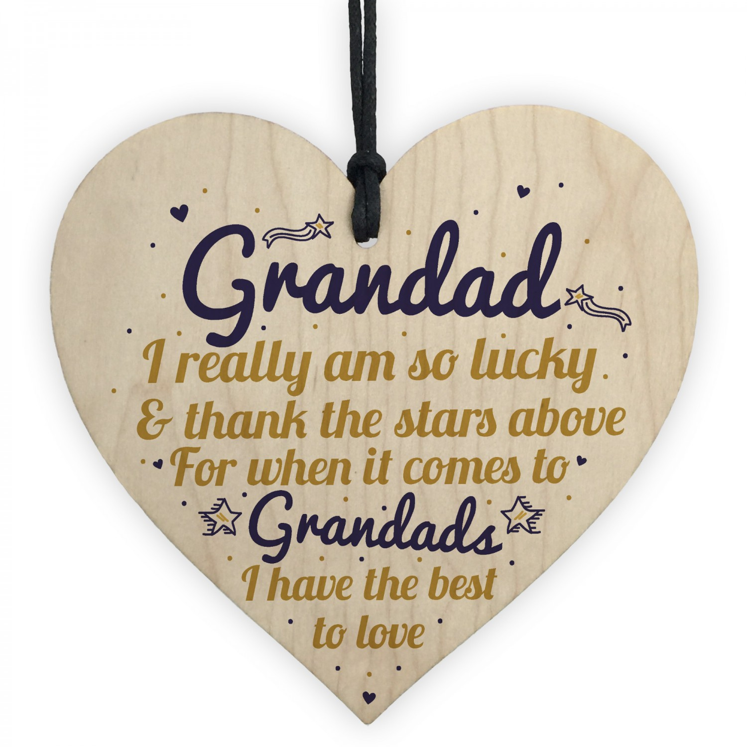 Best Grandad Gifts Wooden Heart Grandpa Birthday For Him