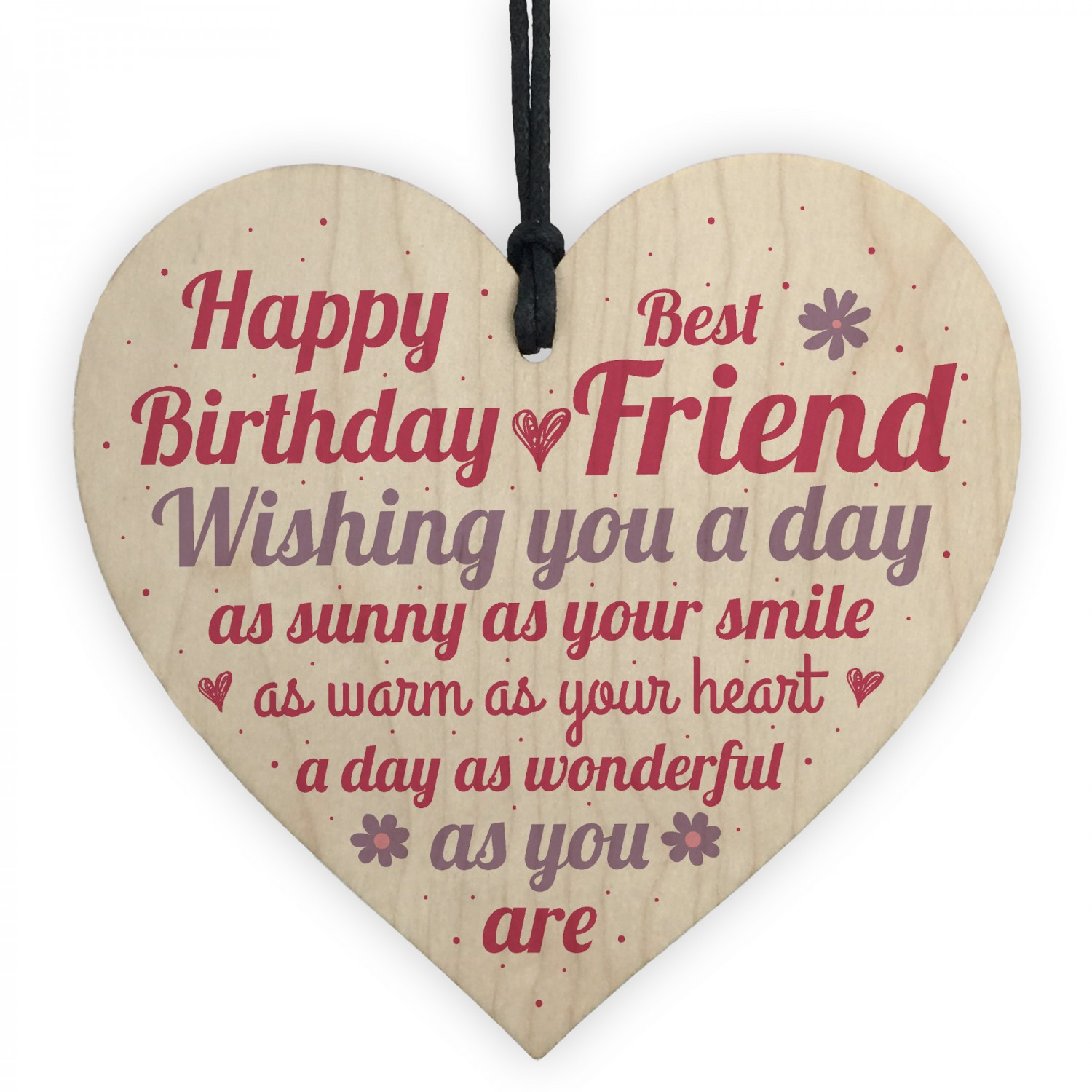 Special Friend Birthday Gift Wooden Heart Sign Card Keepsake