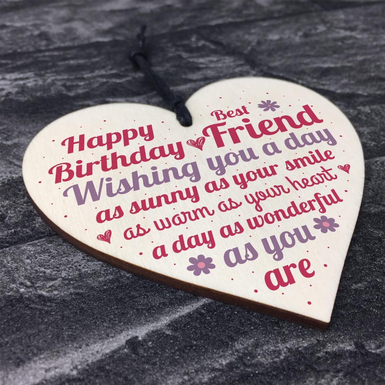 Special Friend Birthday Gift Wooden Heart Sign Card Keepsake