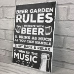 Beer Garden Sign Hanging Wall Pub Garden Shed Plaque Gifts