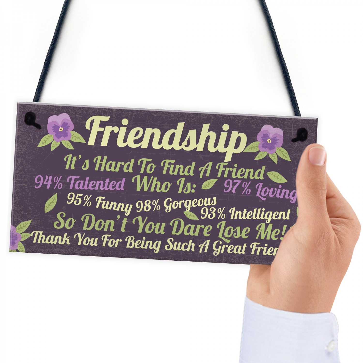 Best Friend Gift Funny Sign Birthday Present Friendship Gift: Funny Best Friend Sign Friendship Gift Plaque Thank You
