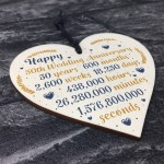 Happy 50th Wedding Anniversary Sign Card Gift Heart Fifty Years