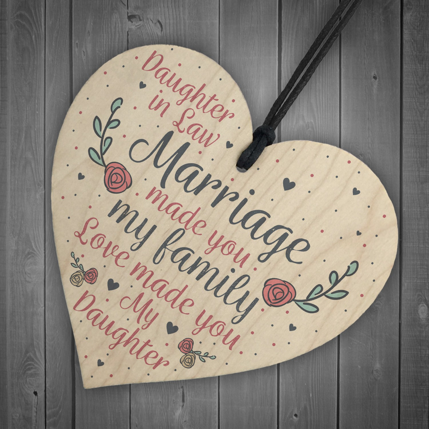 Wood Plaque Mother Daughter In Law Gift Wedding Birthday