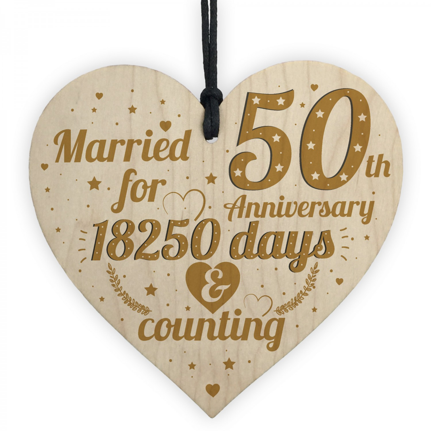 Gifts For Wedding Anniversaries: 50th Wedding Anniversary Gift Gold Fifty Years Gift For