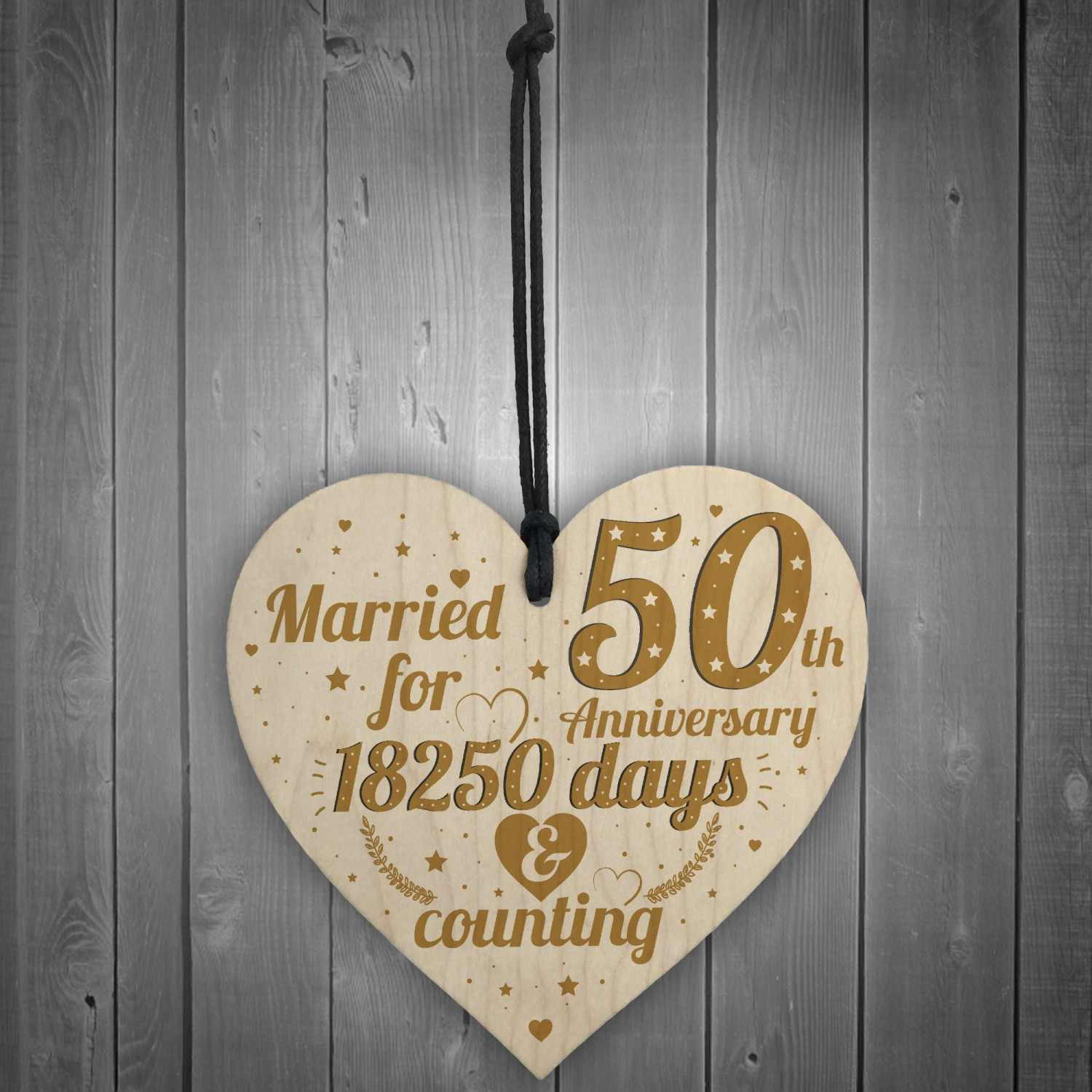 Perfect Wedding Anniversary Gift For Husband: 50th Wedding Anniversary Gift Gold Fifty Years Gift For