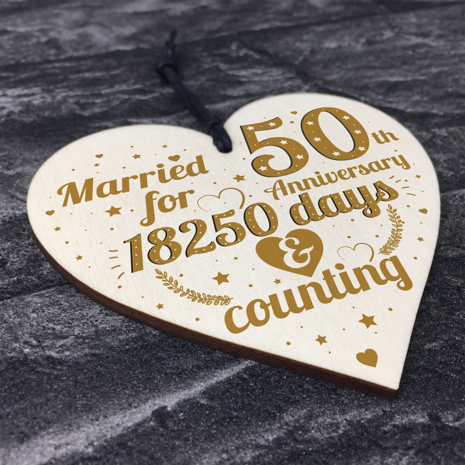 50th Wedding Anniversary Gift Gold Fifty Years Gift For