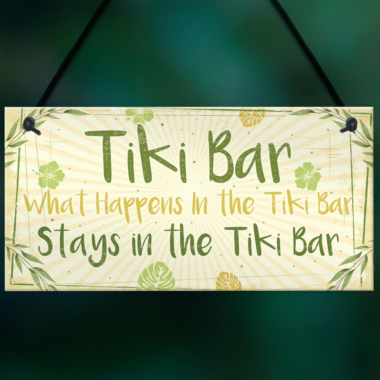 Tiki Bar Accessories Home Garden Bar Plaque Pub Bar Kitchen Sign