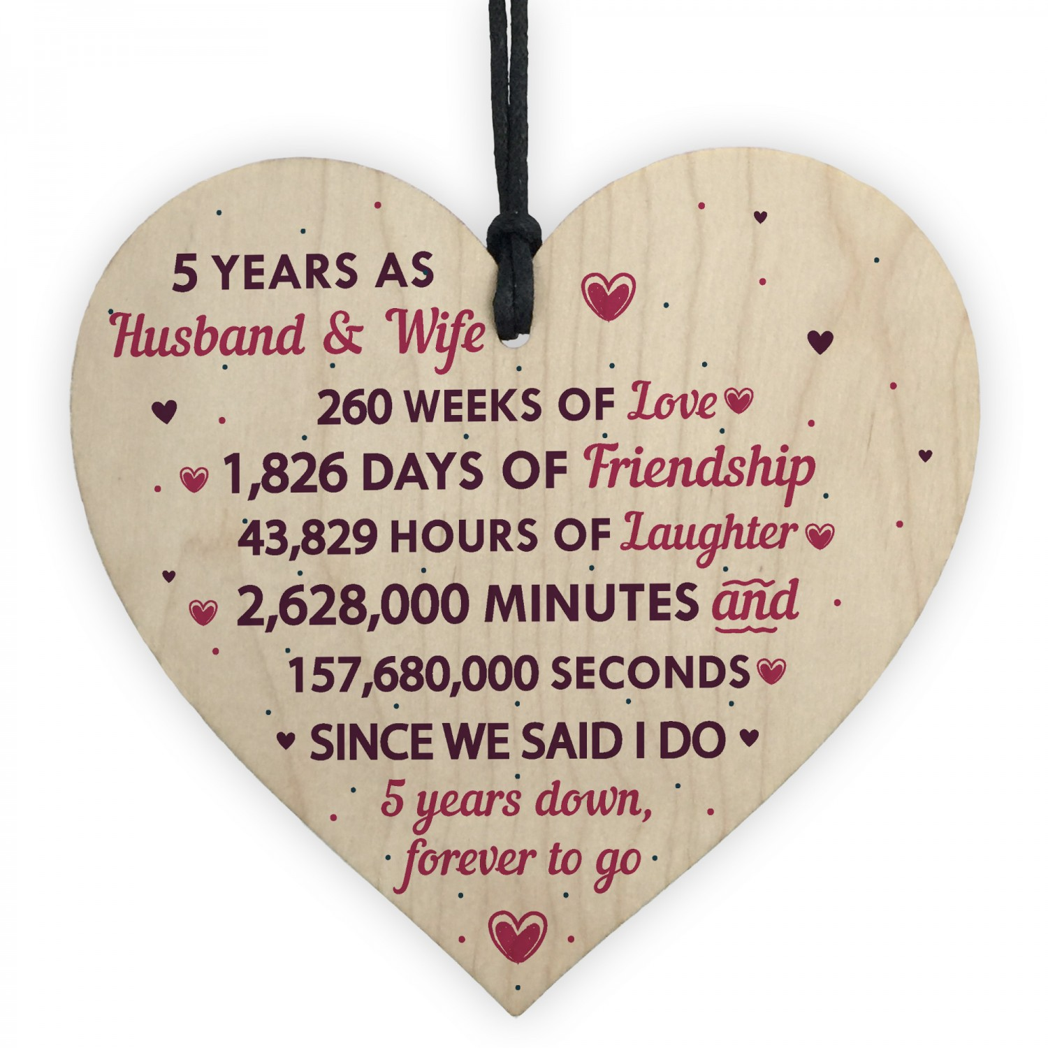 5th Anniversary Gifts For Her: 5th Wedding Anniversary Gift Heart Wedding Anniversary Gift