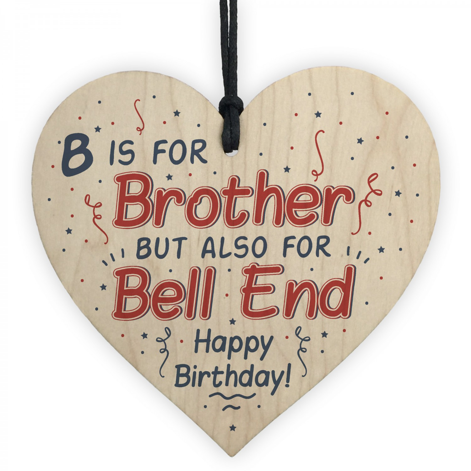 Funny Birthday Gifts For Brother Wooden Heart Sister Mum Dad