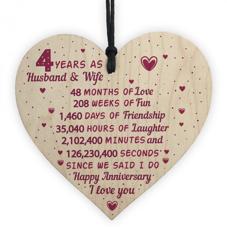 Fourth Wedding Anniversary Gift Ideas: 4th Wedding Anniversary Gift Heart Linen Fourth Wedding Gifts