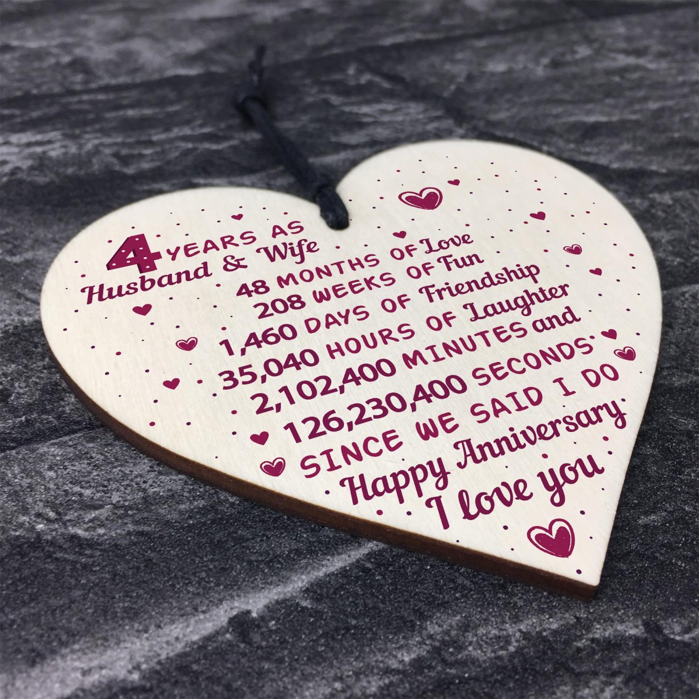 4th Wedding Anniversary Gift Ideas: 4th Wedding Anniversary Gift Heart Linen Fourth Wedding Gifts