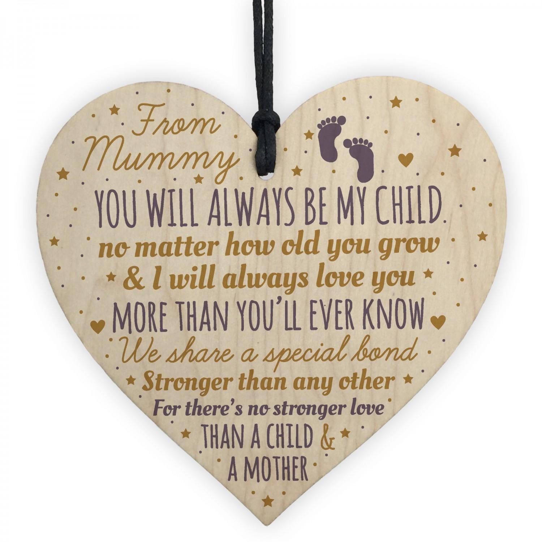 New Mum To Be Heart Novelty Baby Shower Gift Mummy Son