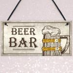 Vintage Bar Sign Beer Plaque Home Bar Wedding Man Cave Pub Gifts
