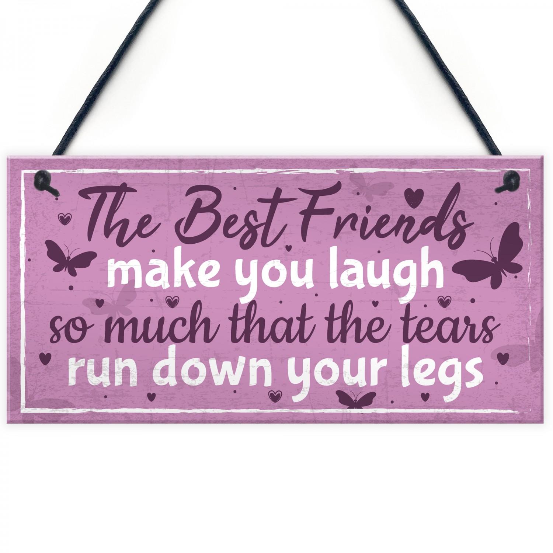 Best Friend Birthday Gift THANK YOU Hanging Plaque Friendship