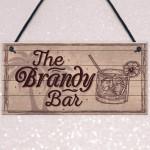 Vintage Shabby Chic Bar Sign Brandy Plaque Home Bar Wedding Gift
