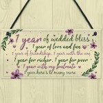 1st Wedding Anniversary Card Gift For Husband Wife First Year